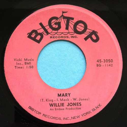 Willie Jones - Mary - Bigtop - M-