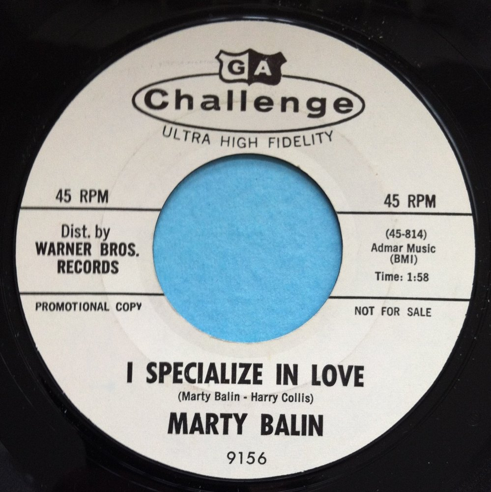 Marty Balin - I specialize in love - Challenge - Promo - Ex