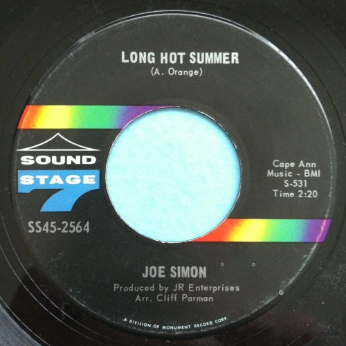 Joe Simon - Long hot summer - Sound Stage Seven - Ex