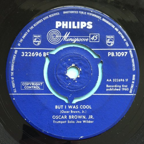 Oscar Brown Jr - But I was cool - U.K. Philips - VG+ (plays Ex)