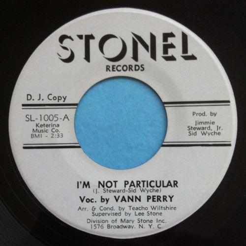 Vann Perry - I'm not particular - Stonel - Promo - Ex