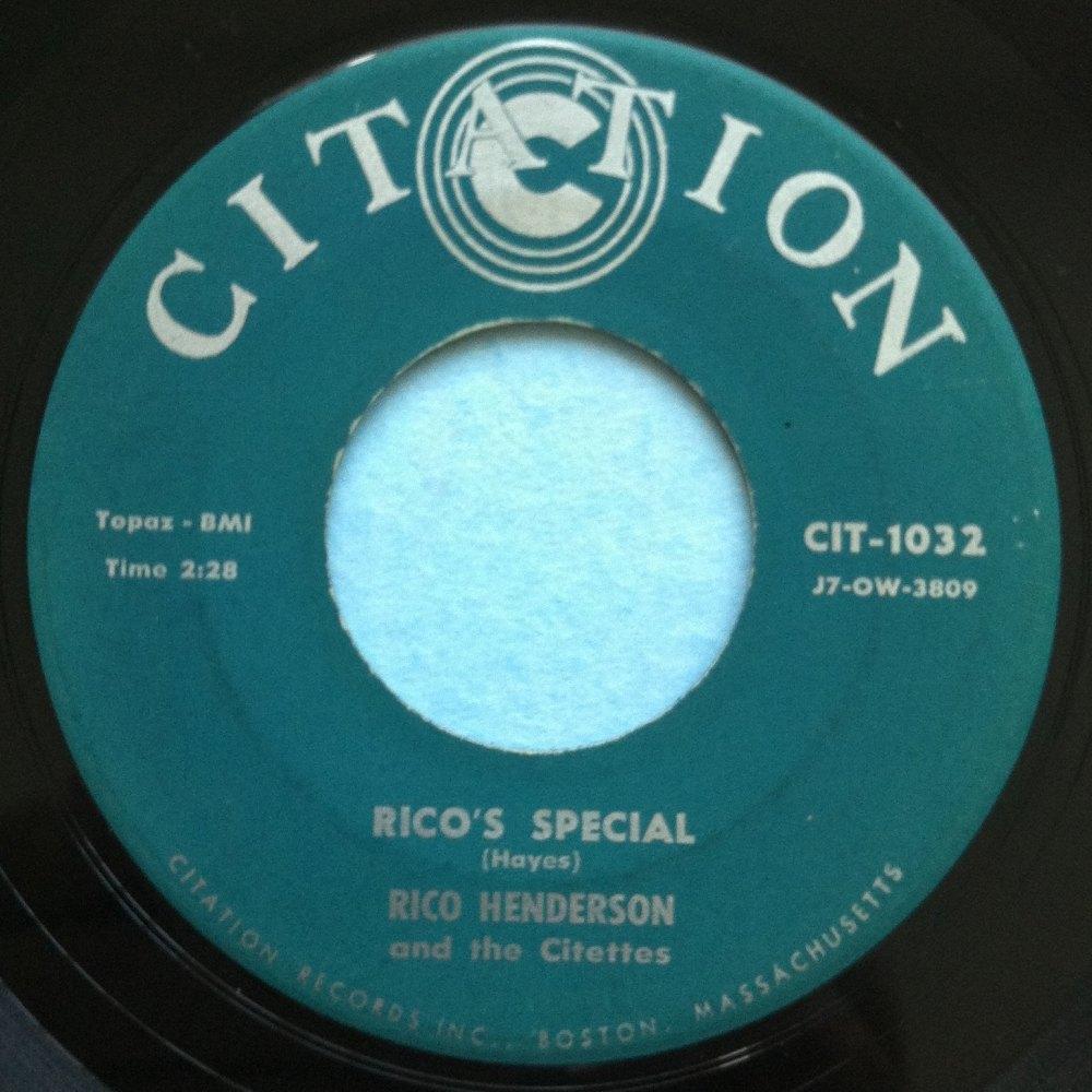 Rico Henderson - Rico's Special - Citation - Ex+