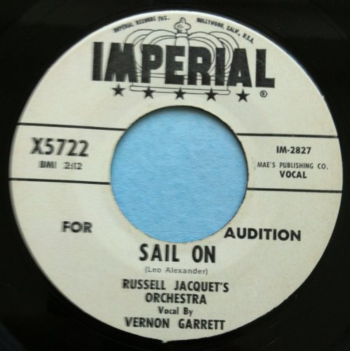 Vernon Garrett - Sail on - Imperial - Promo - Ex-