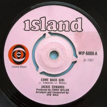 Jackie Edwards - Come back girl - Island - Ex