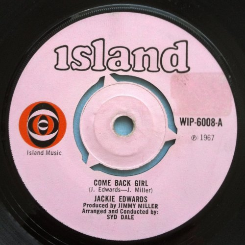 Jackie Edwards - Come back girl - Island - VG+