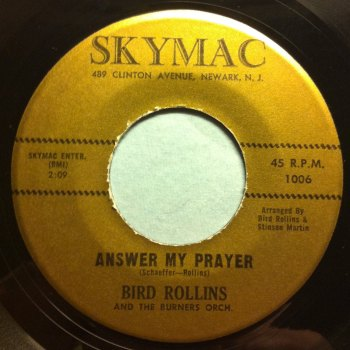 Bird Rollins - Answer my prayer - Skymac - Ex