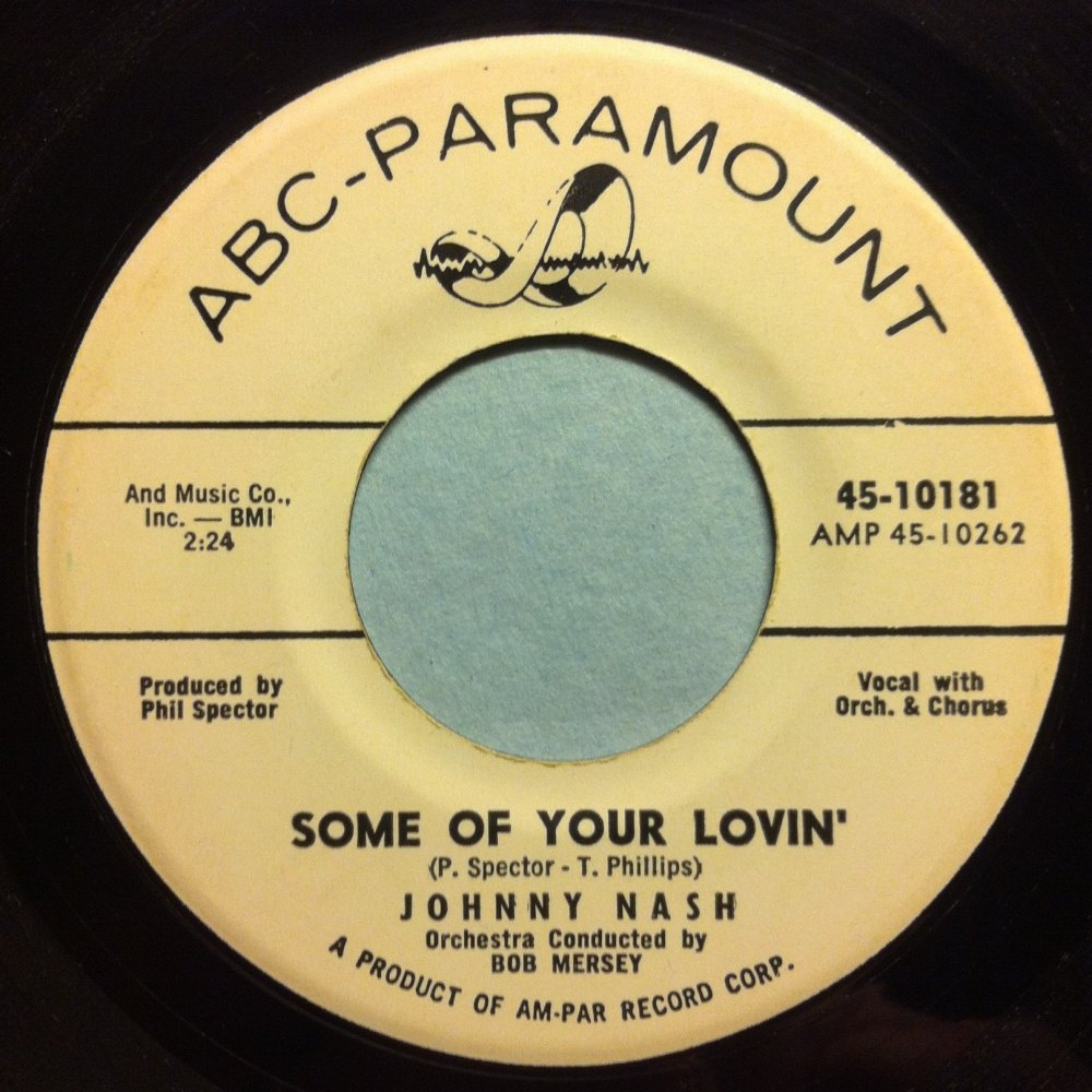 Johnny Nash - Some of your lovin' - ABC Paramount Promo - Ex