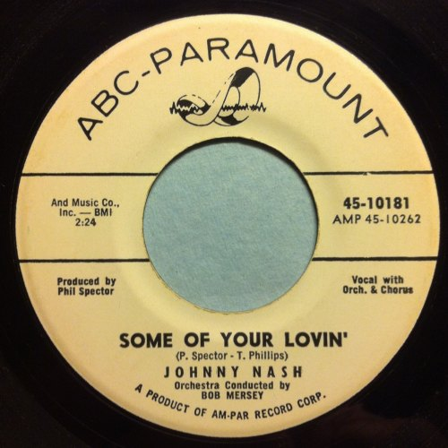 Johnny Nash - Some of your lovin' - ABC Paramount Promo - Ex