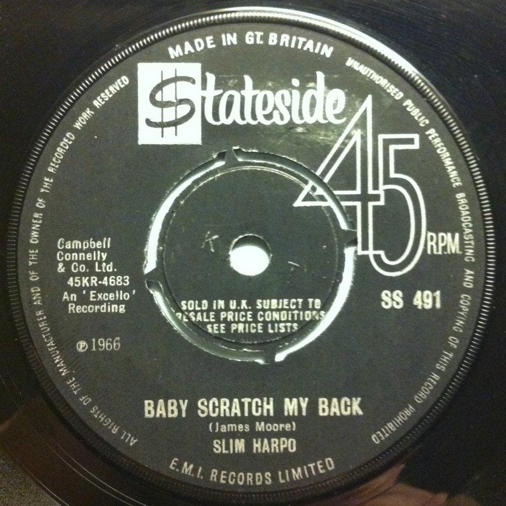 Slim Harpo - Baby scratch my back - UK Stateside - Ex
