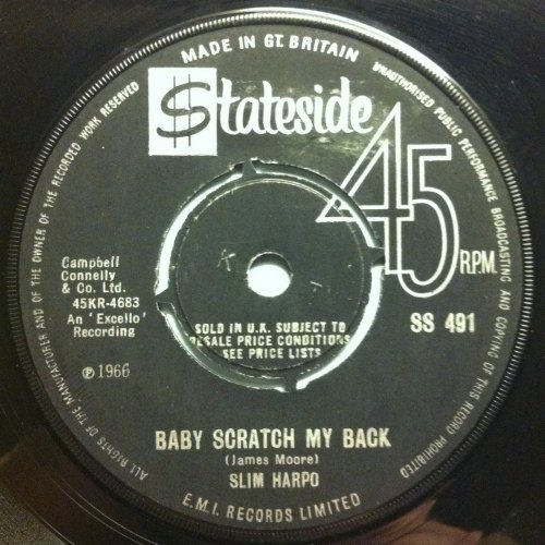 Slim Harpo - Baby scratch my back - UK Stateside - Ex