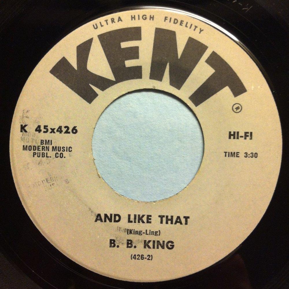 B B King - And like that - Kent - Ex