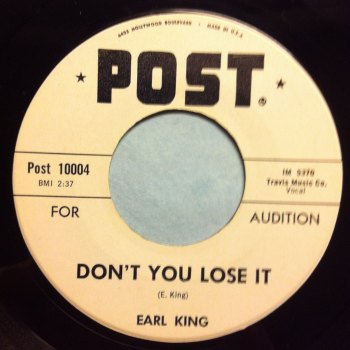Earl King - Don't you lose it - Post promo - Ex
