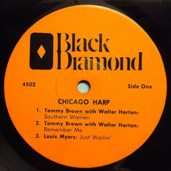 Tommy Brown - Southern Women - Black Diamond 6 track 'Chicago Harp' E.P. - Ex