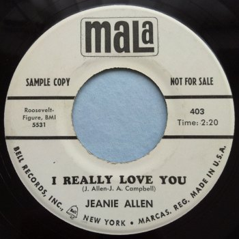 Jeanie Allen - I really love you - Mala - promo - M-