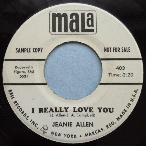 Jeanie Allen - I really love you - Mala - promo - M-