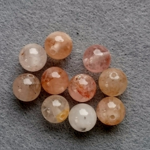 Morganite bead 8mm