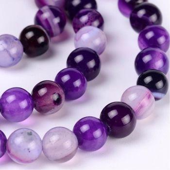 1 Purple Agate bead 6mm