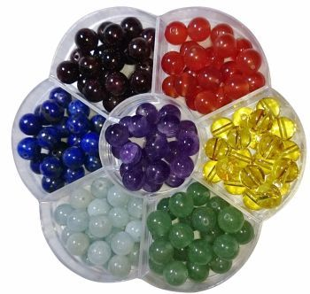 Chakra 8mm gemstone beads