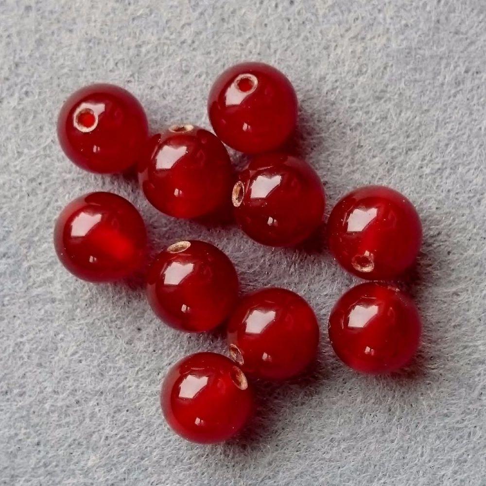 Carnelian bead 8mm