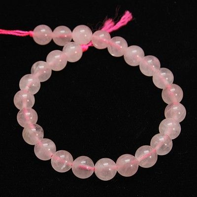 Strand Natural Rose Quartz 4mm Beads