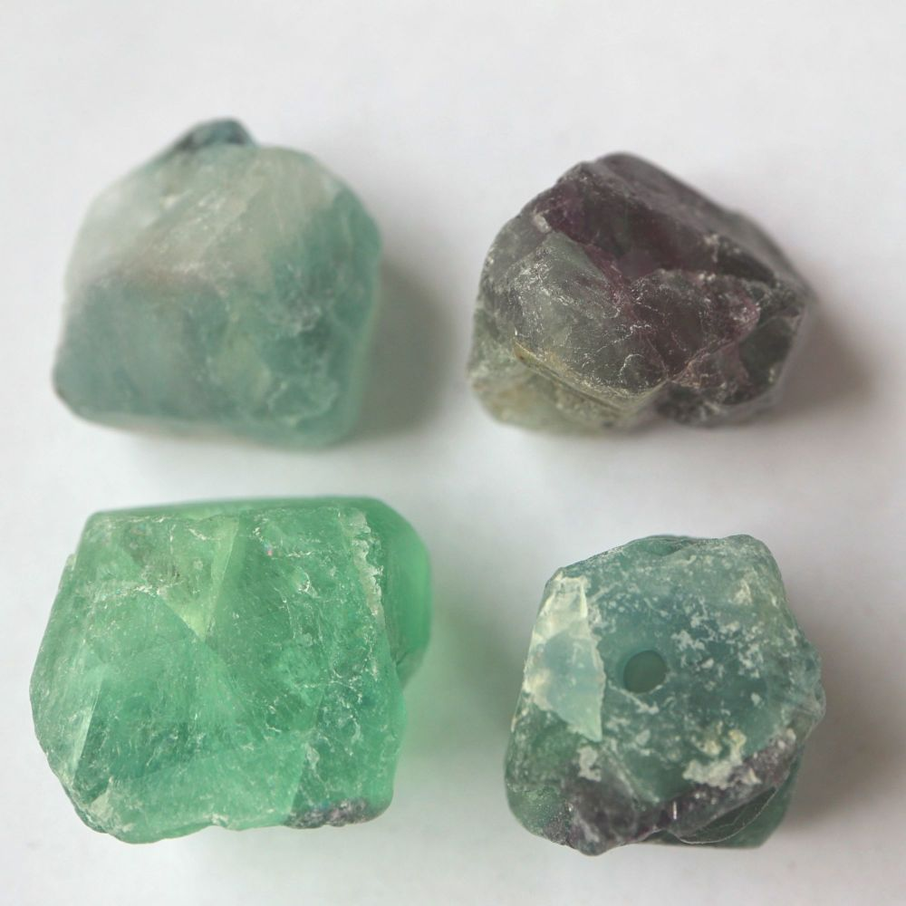 1 Natural Fluorite Nugget Bead