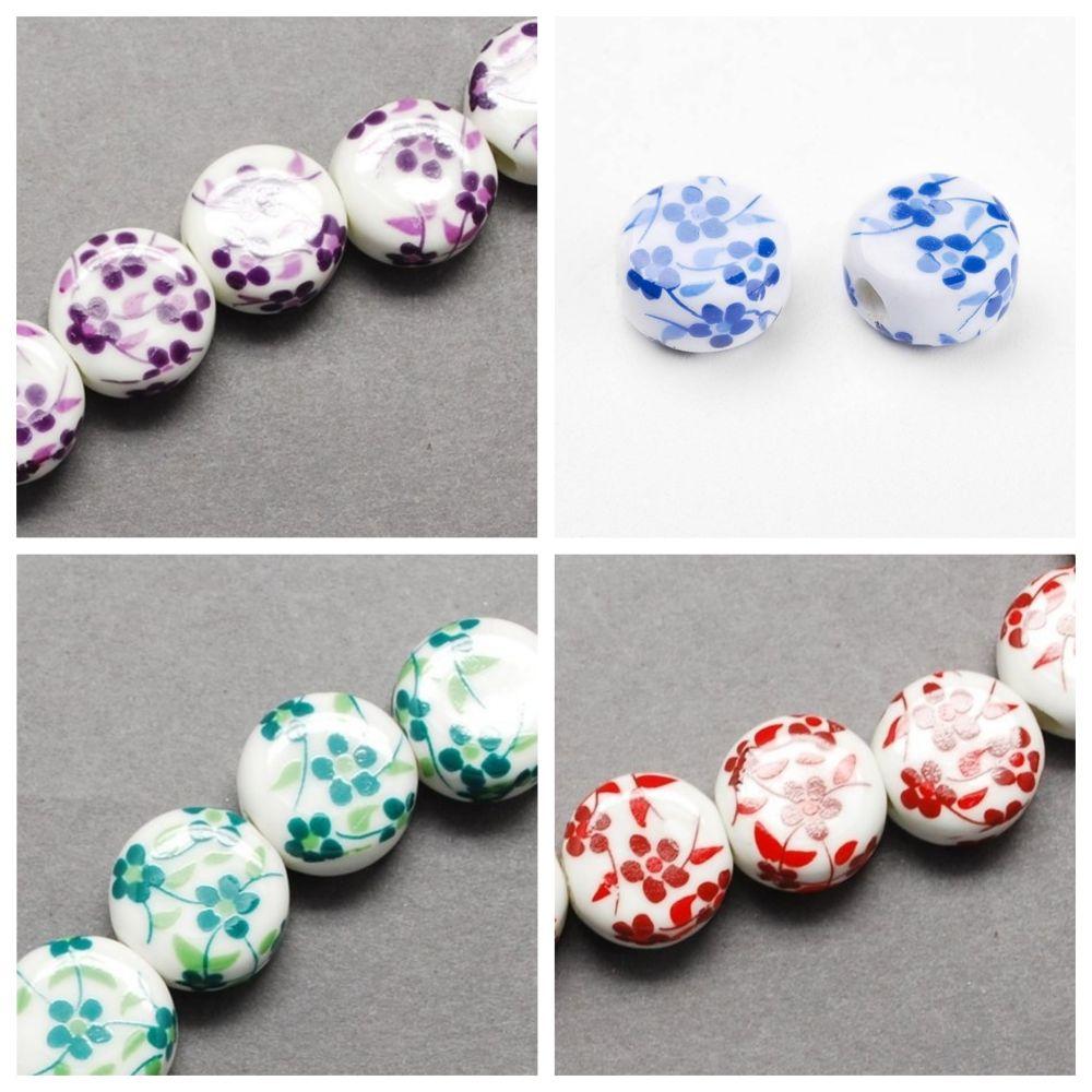 12mm Flat Round Beads