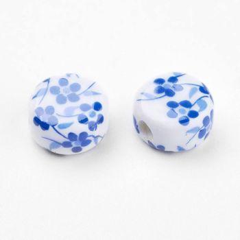 1 Handmade Flat Round Blue