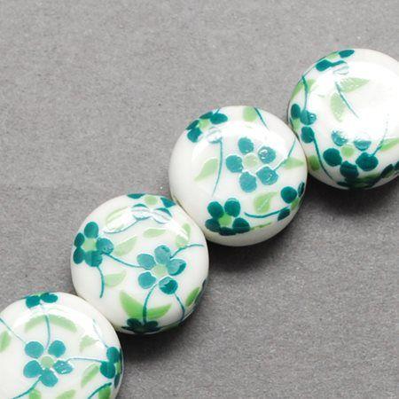 1 Handmade Flat Round Green