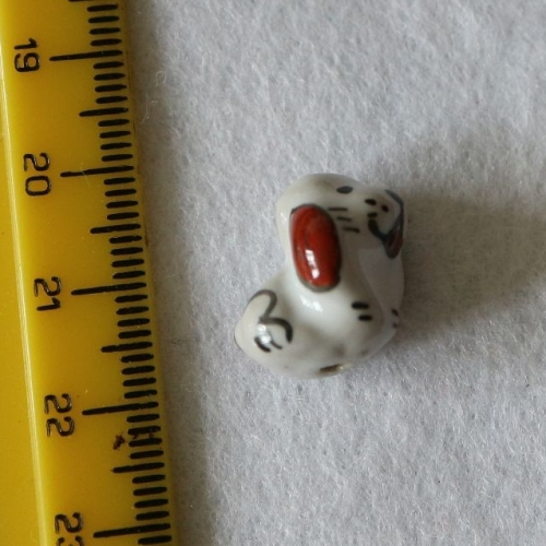 1 Dog Porcelain Bead