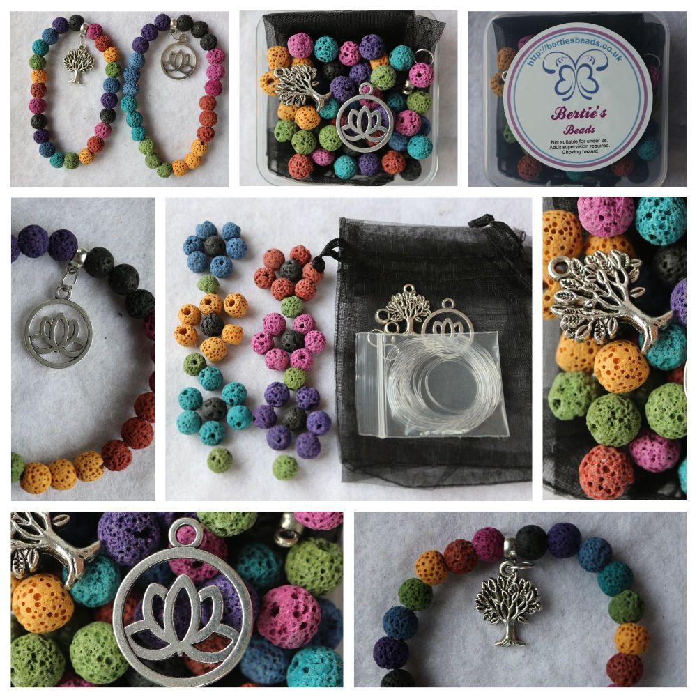 DIY Make your own lava bracelet kit