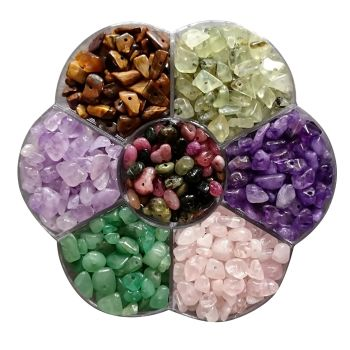 Berties Beads Flower Anxiety Gemstone Mix