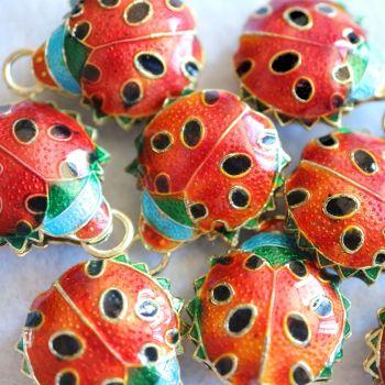 1 Cloisonne Ladybird Pendant