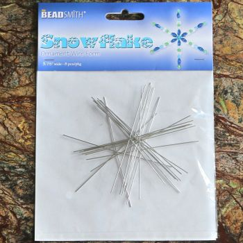 The BeadSmith Snowflake Wire  3 3/4 INCH .8MM DIA- 8PCS/CD