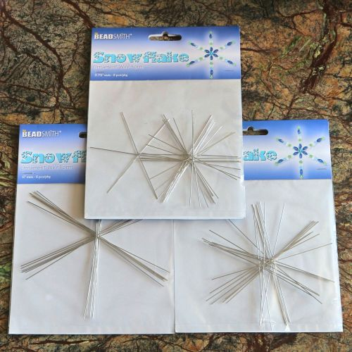 The BeadSmith Wire Snowflakes 3 Sets
