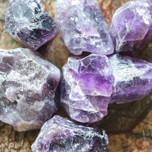 1 Natural Amethyst nugget bead