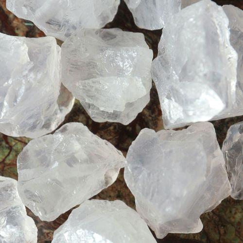 1 Natural Crystal Quartz nugget  bead