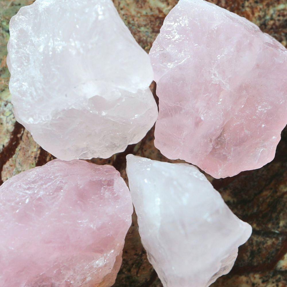 1 Natural Rose Quartz nugget bead