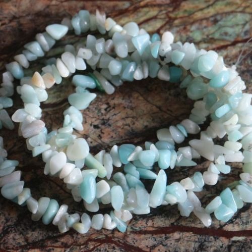 Amazonite chips 5-8mm  20g