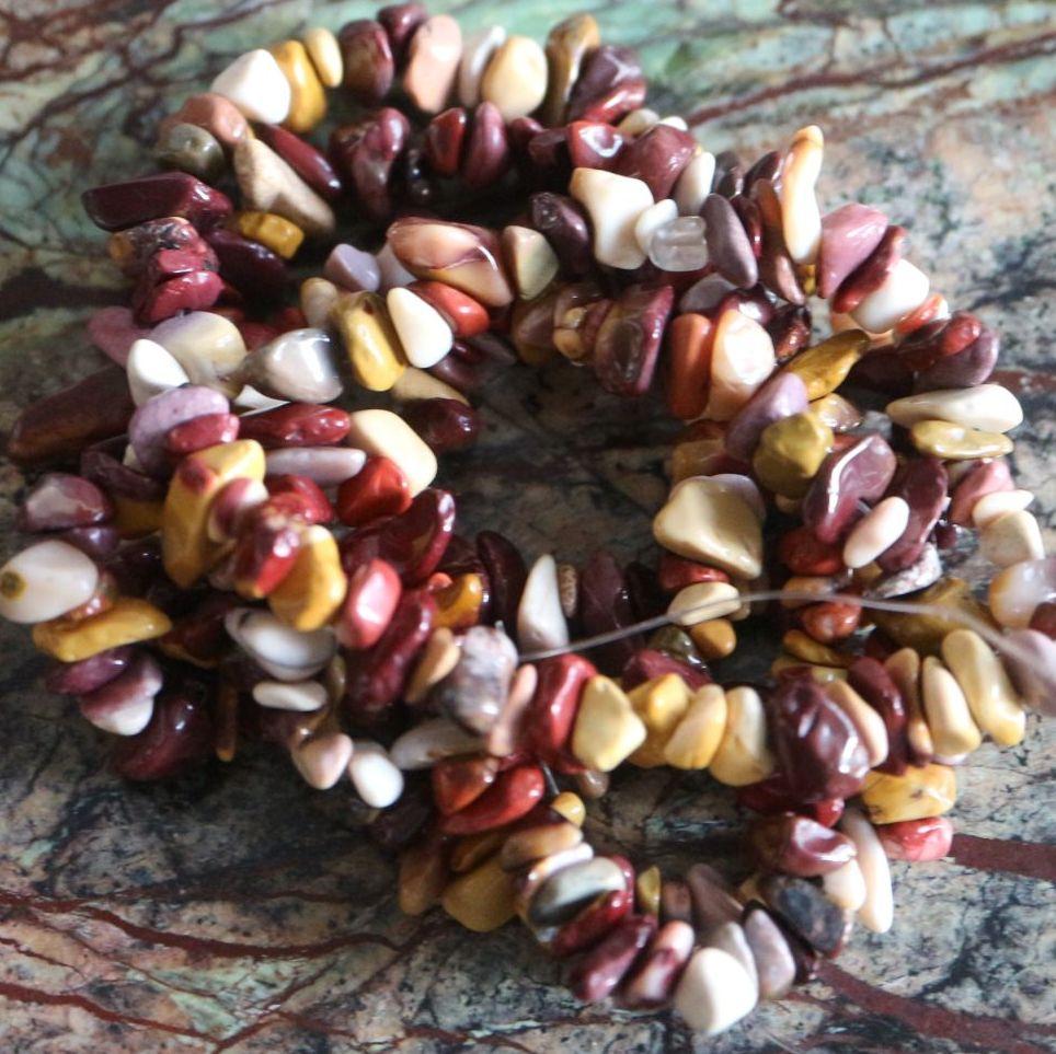 Mookaite Chips Beads Strand