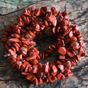 Red Jasper Chip Beads Strand