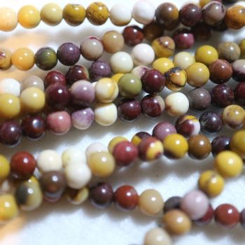 Natural Mookaite Beads Strand 4mm
