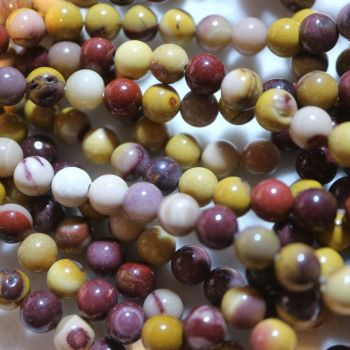 Natural Mookaite Round Beads Strand 6mm
