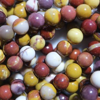Natural Mookaite Round Beads Strand 8mm
