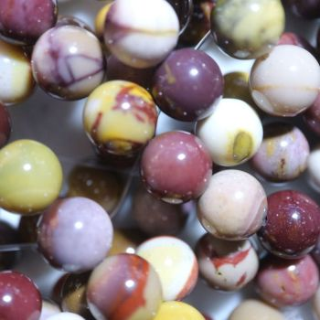 Natural Mookaite Round Beads Strand 10mm