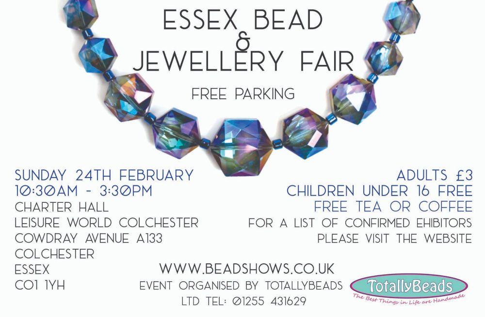 essex bead and jewellery fair - advert