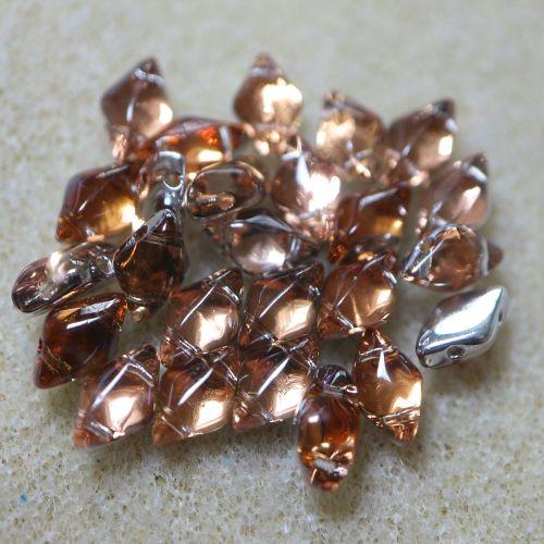 25 GemDuo Backlit Peach Beads