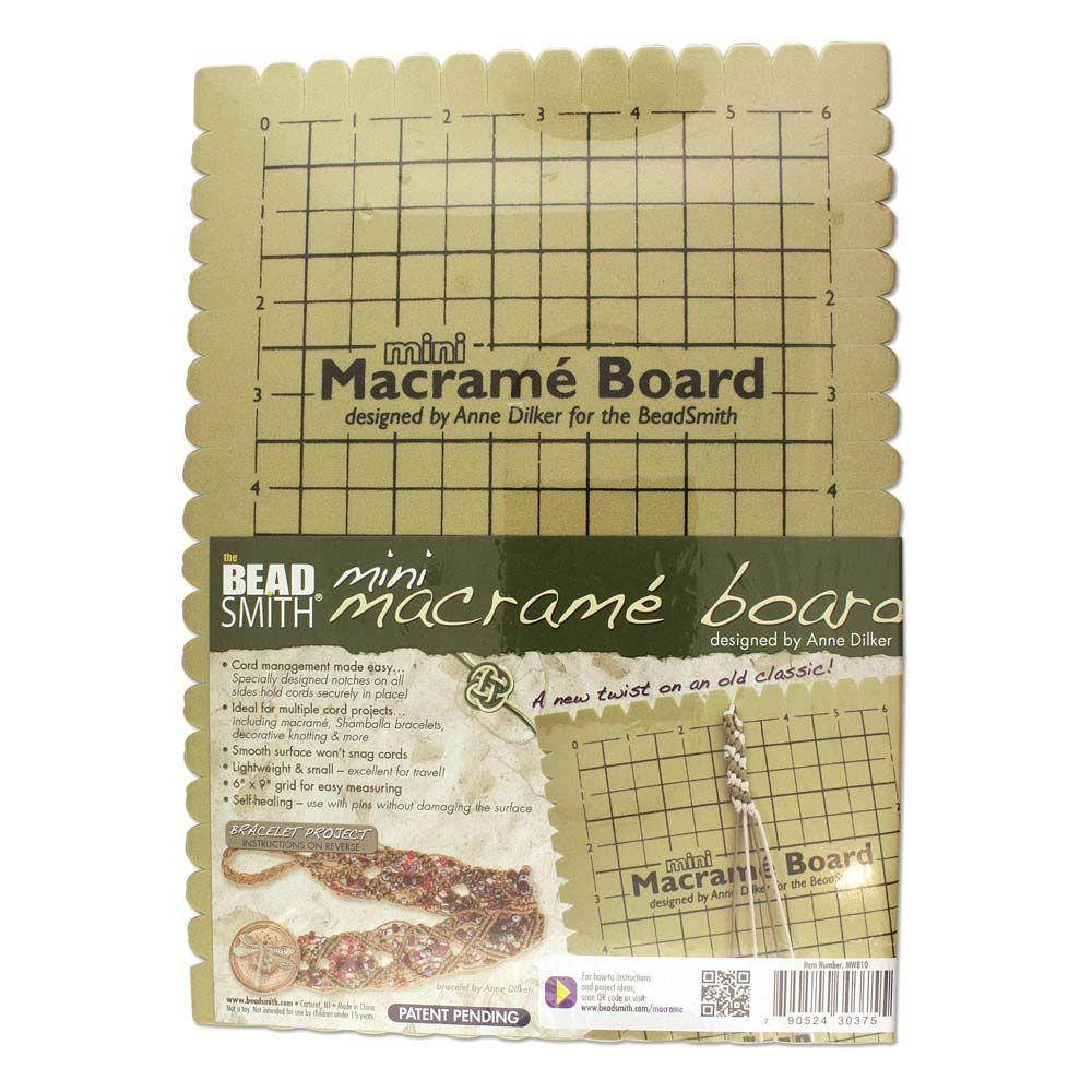 The BeadSmith Macrame Board Mini - 7.5 X 10.5 Inches