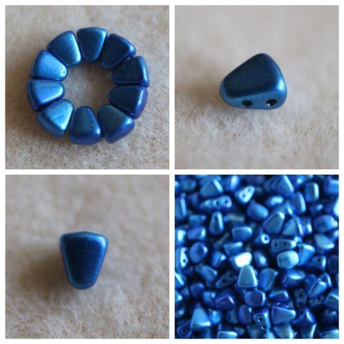 1 NIB-BIT 6X5MM METALUST CROWN BLUE bead