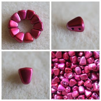1 NIB-BIT 6X5MM METALUST HOT PINK bead (Nib Bit Matubo)