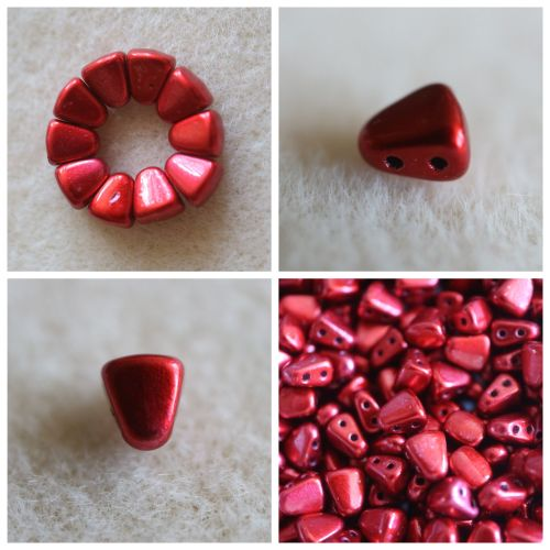 1 NIB-BIT 6X5MM METALUST LIPSTICK RED bead